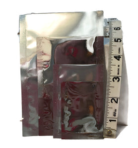 Silver/Clear Heat Seal Sample Packet - Small