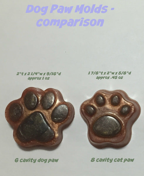 Cat Paw Small Silicone Soap Embed Mold