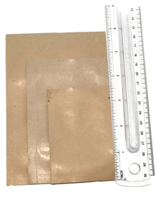 Kraft Heat Seal Sample Packet - Large