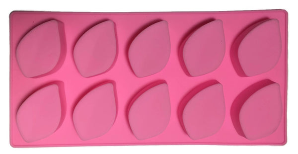 Ridged Leaf Silicone Soap Mold