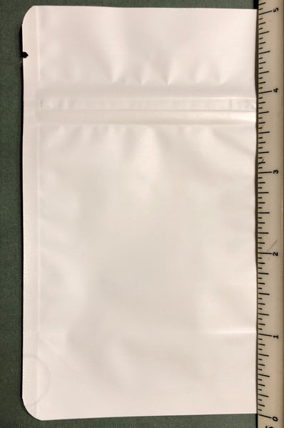 White/Clear Stand-Up Zipper Pouch - Small