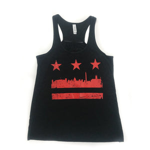 Women's Distressed DC Flag Tank