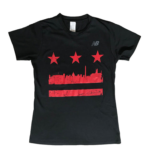 Women's Distressed DC Flag Tee