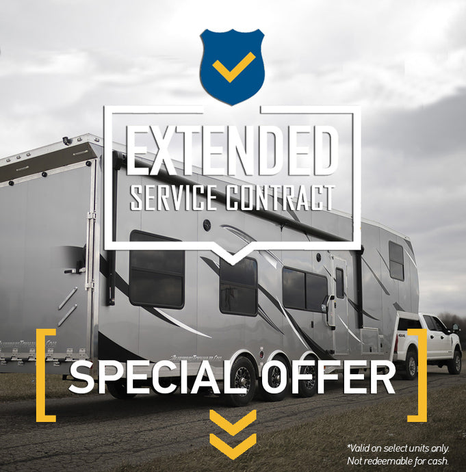 Free 7-Year Extended Service Contract on 36' Fifth Wheel Toy Hauler!