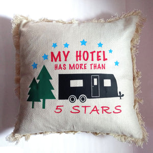 "Couch Pillow Cover: ""My Hotel Has More Than 5 Stars"""