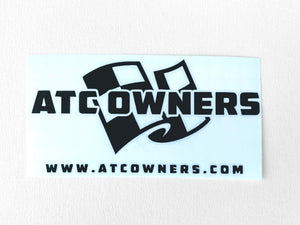 ATC Owners Decal, Black, Large