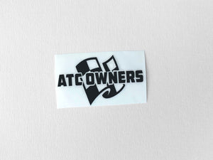ATC Owners Decal, Black, Small