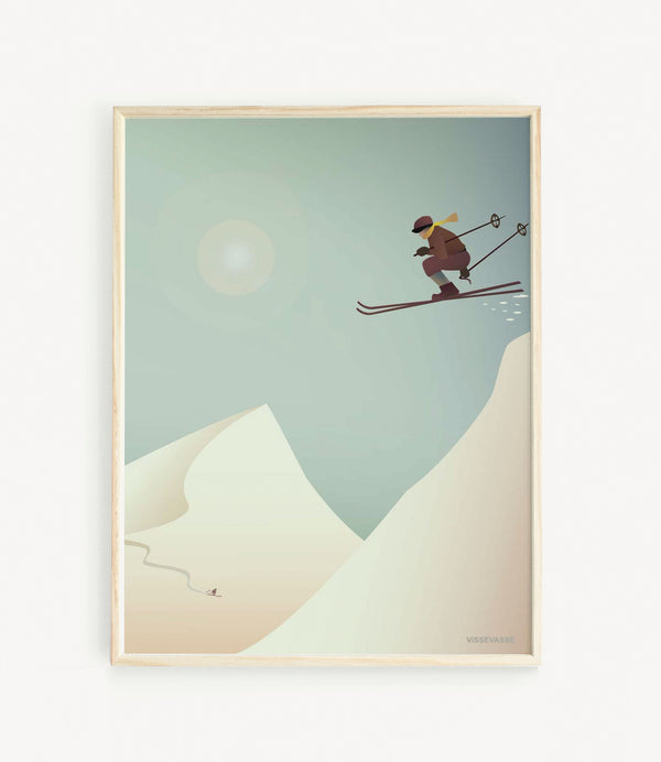 Skiing Miniposter A5