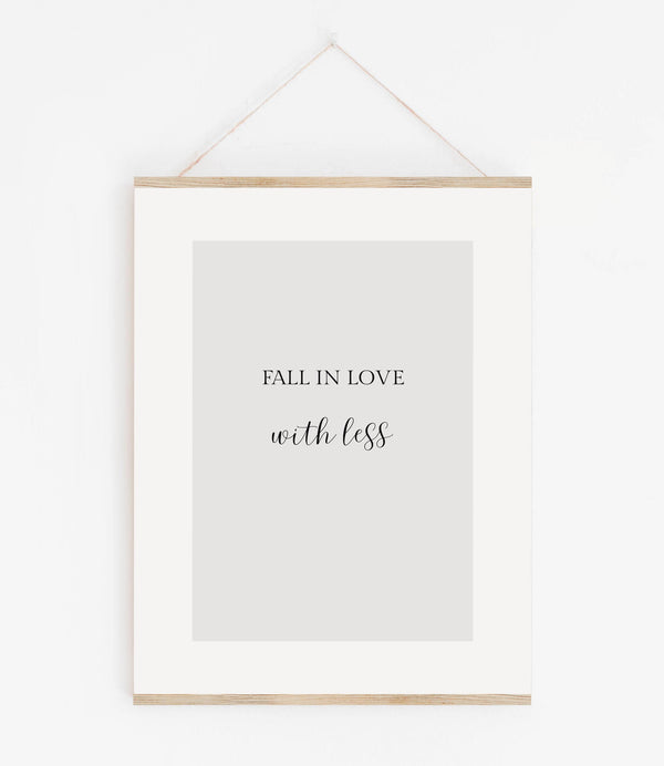 Fall in love with less Typo