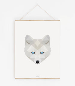 Polarfuchs weiß Poly Art