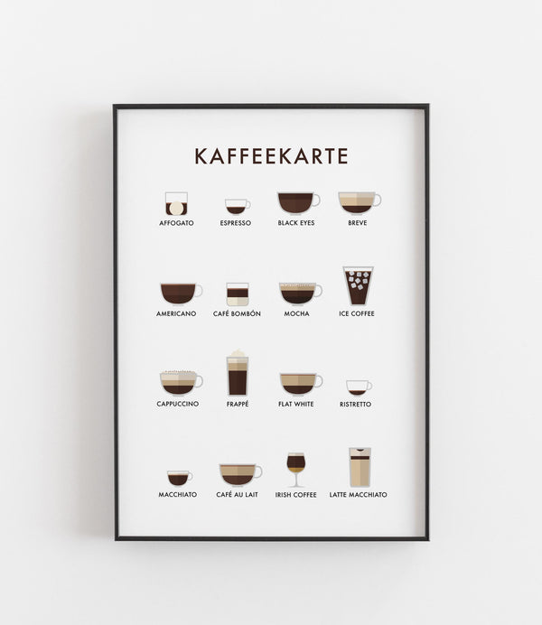 Kaffeekarte Illustration