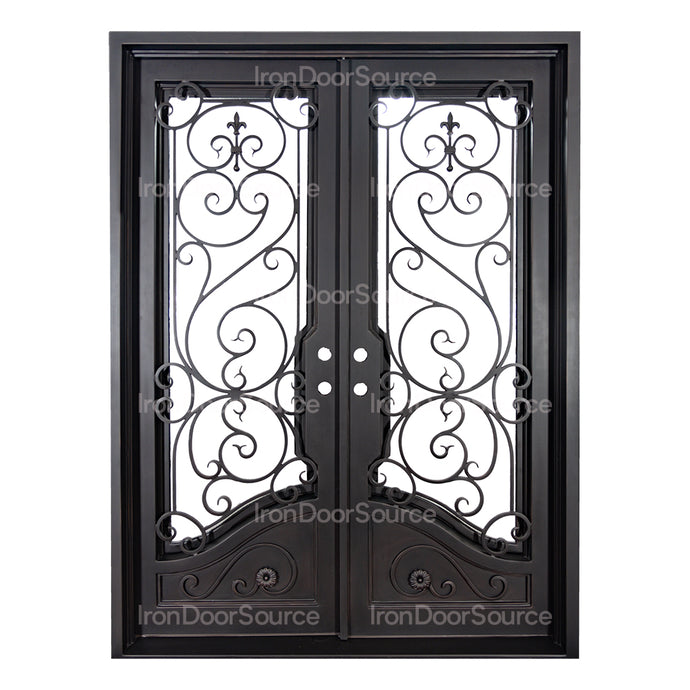 Beverly - Double Flat - Iron Door Source
