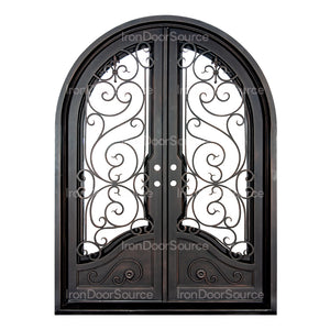 Beverly - Double Full Arch - Iron Door Source