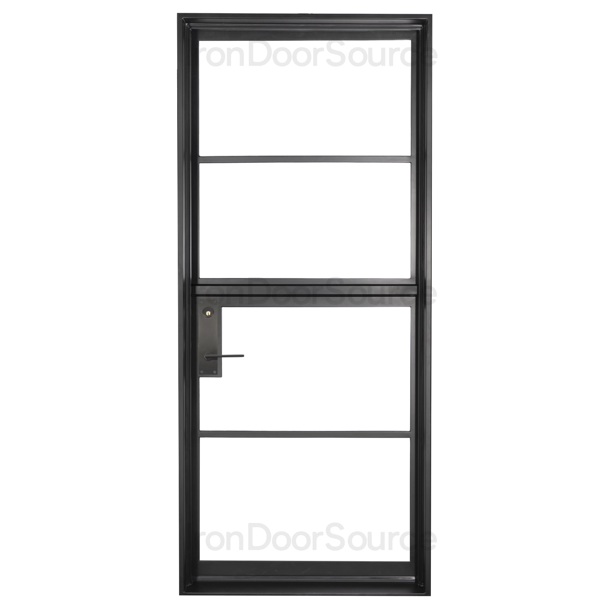 Interior Black Steel Single Dutch Door