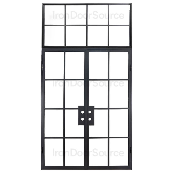 Air 5 Thermally Broken Flat Top - w/ Flat Top Transom - Iron Door Source