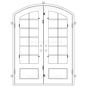 Air 9 - Double Arch - Iron Door Source