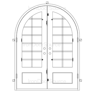 Air 9 - Double Full Arch - Iron Door Source