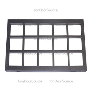 Air Grid Transom - Flat Top - Iron Door Source