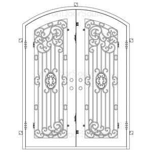Blackbird - Double Arch - Iron Door Source