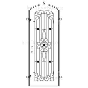 Expressway - Single Arch Door - Iron Door Source