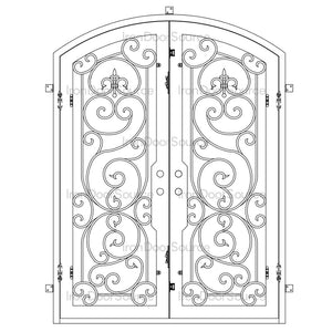 Hills - Double Arch - Iron Door Source