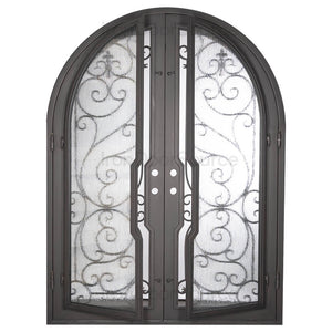 Hills - Double Full Arch - Iron Door Source