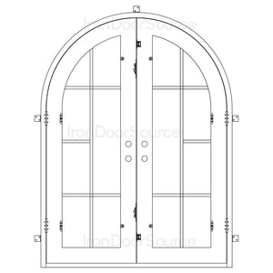 Hollywood - Double Full Arch - Iron Door Source