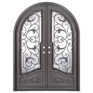 Hope - Double Full Arch - Iron Door Source