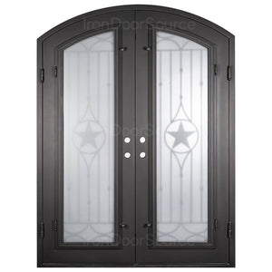 Lone Star w/ Screen - Double Arch - Iron Door Source