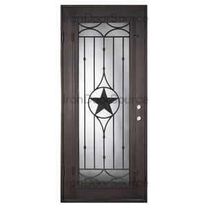 Lone Star w/ Screen - Single Flat - Iron Door Source