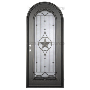 Lone Star w/ Screen - Single Full Arch - Iron Door Source