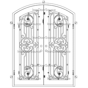 Manhattan - Double Arch - Iron Door Source