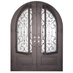 New York - Double Full Arch - Iron Door Source