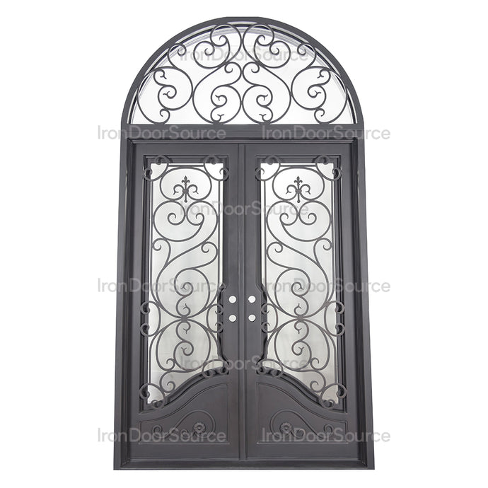 Beverly Thermally Broken Flat Top - w/ Full Arch Transom - Iron Door Source