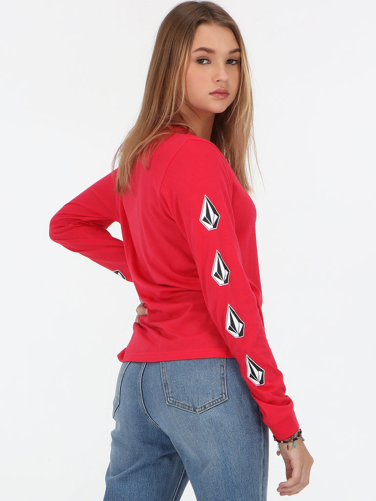 Deadly Stones Long Sleeve Top - Pomegranate