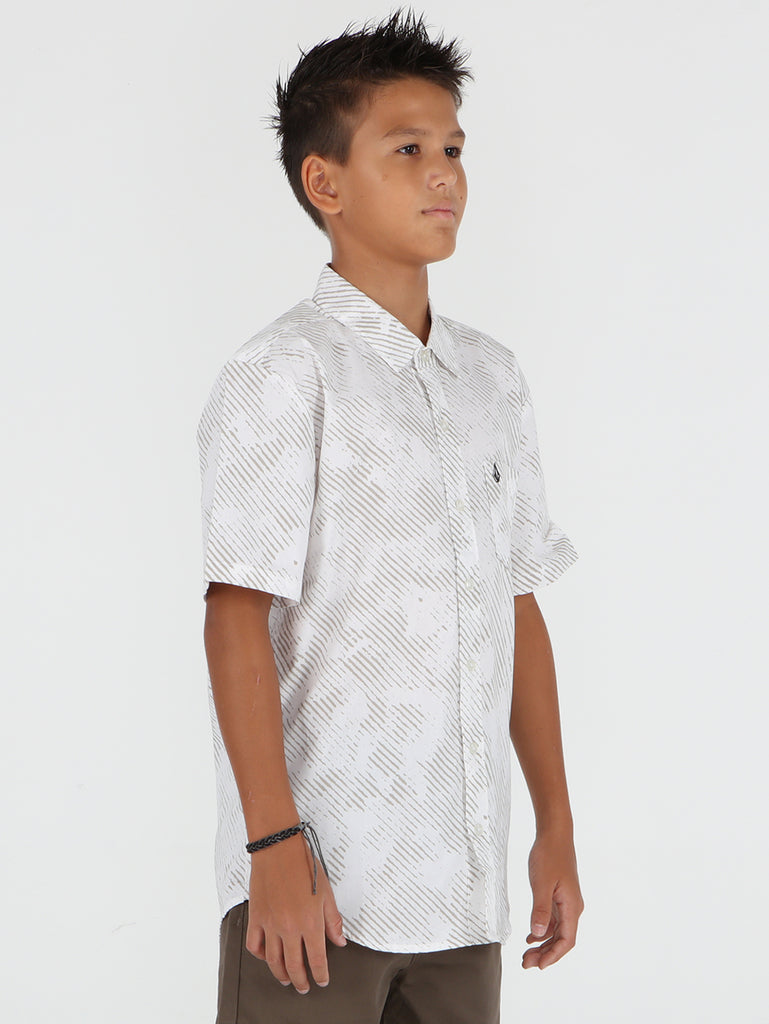 Big Boys Destra Short Sleeve Shirt - White