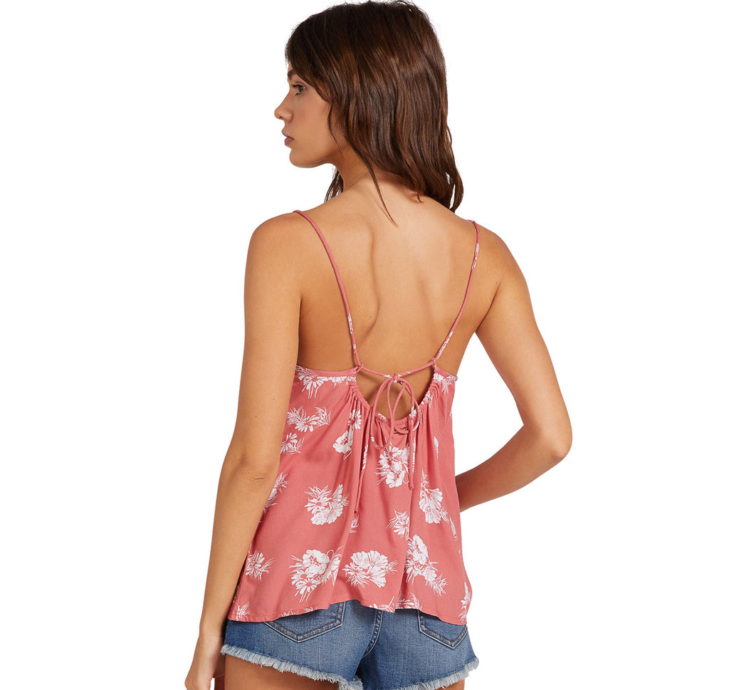 VOLCOM STONE STEPS CAMI - Dust Red