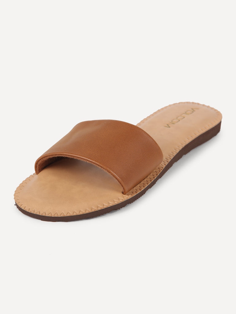Simple Slide Sandals - Tan