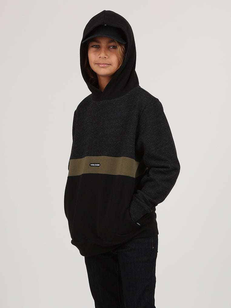 Big Boys Single Stone Division Pullover Hoodie - Sulfur Black