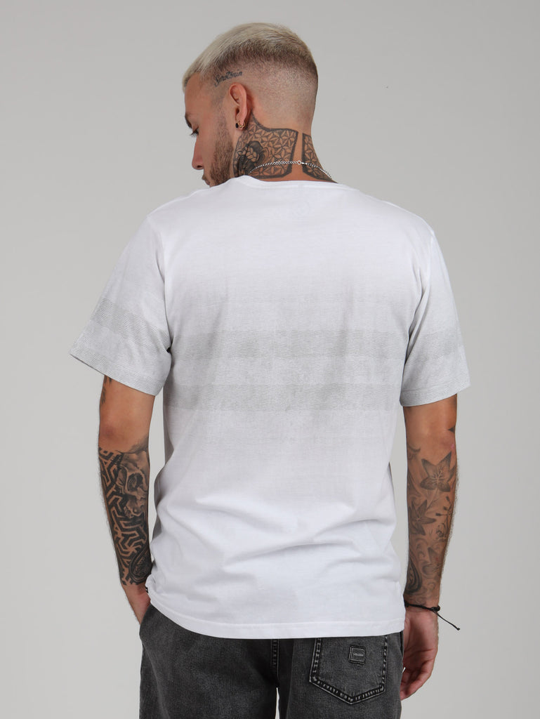 Bumpy Chest Tee - White