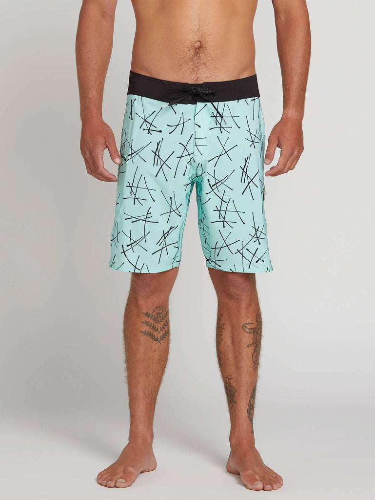 Crossed Up Mod Trunks - Sea Glass
