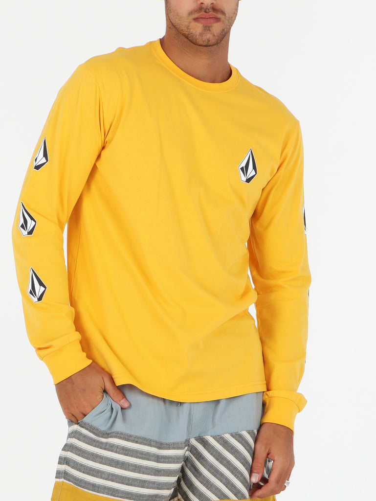 Deadly Stone Long Sleeve Tee - Citrus Gold
