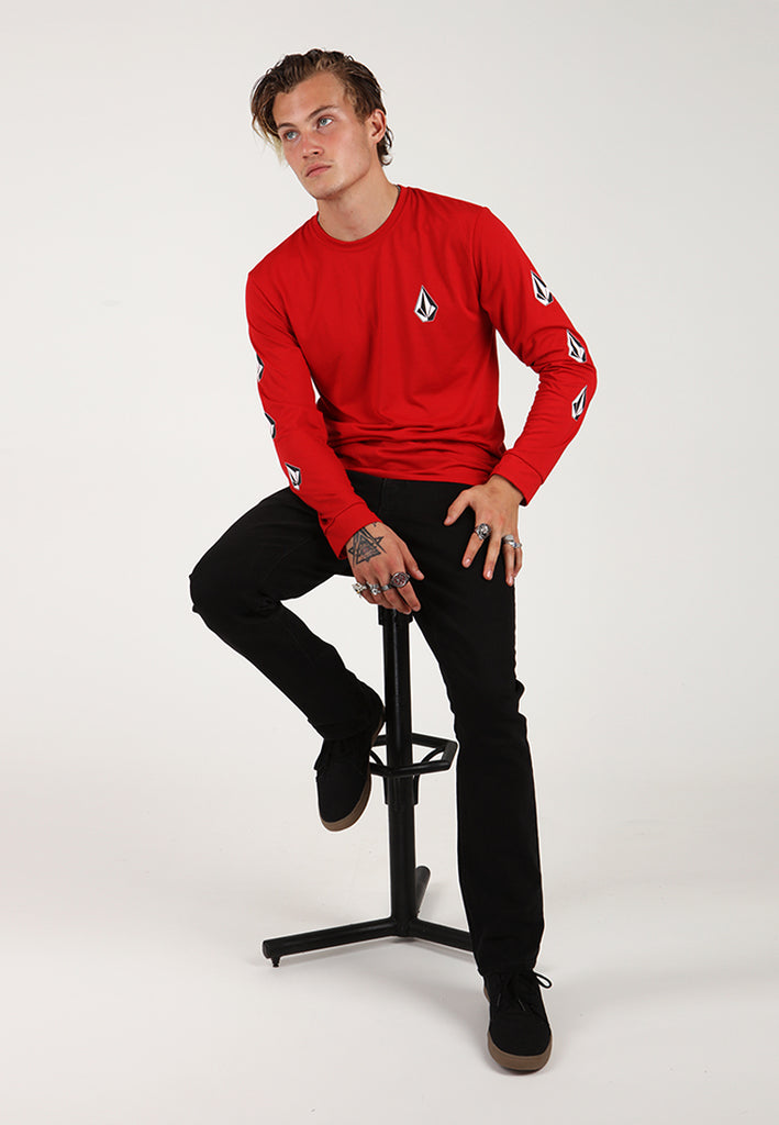 Deadly Stones Long Sleeve Tee - Red
