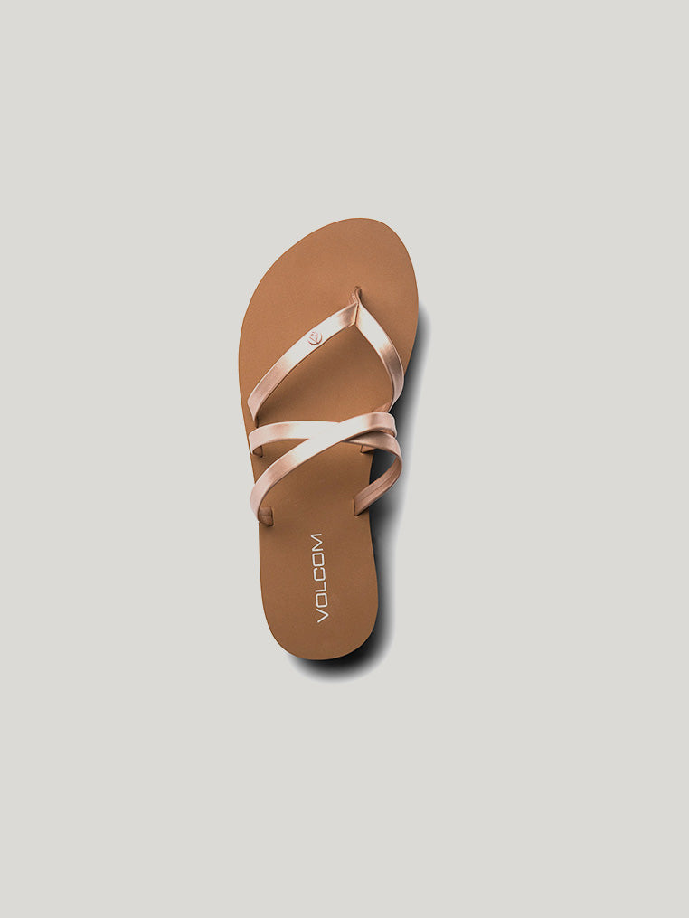 Easy Breezy Sandals - Rose Gold