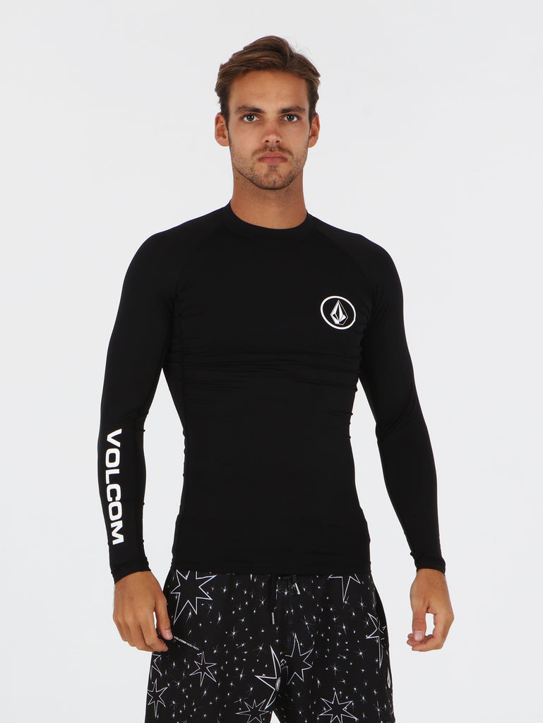 Lido Solid Rashguards - Black