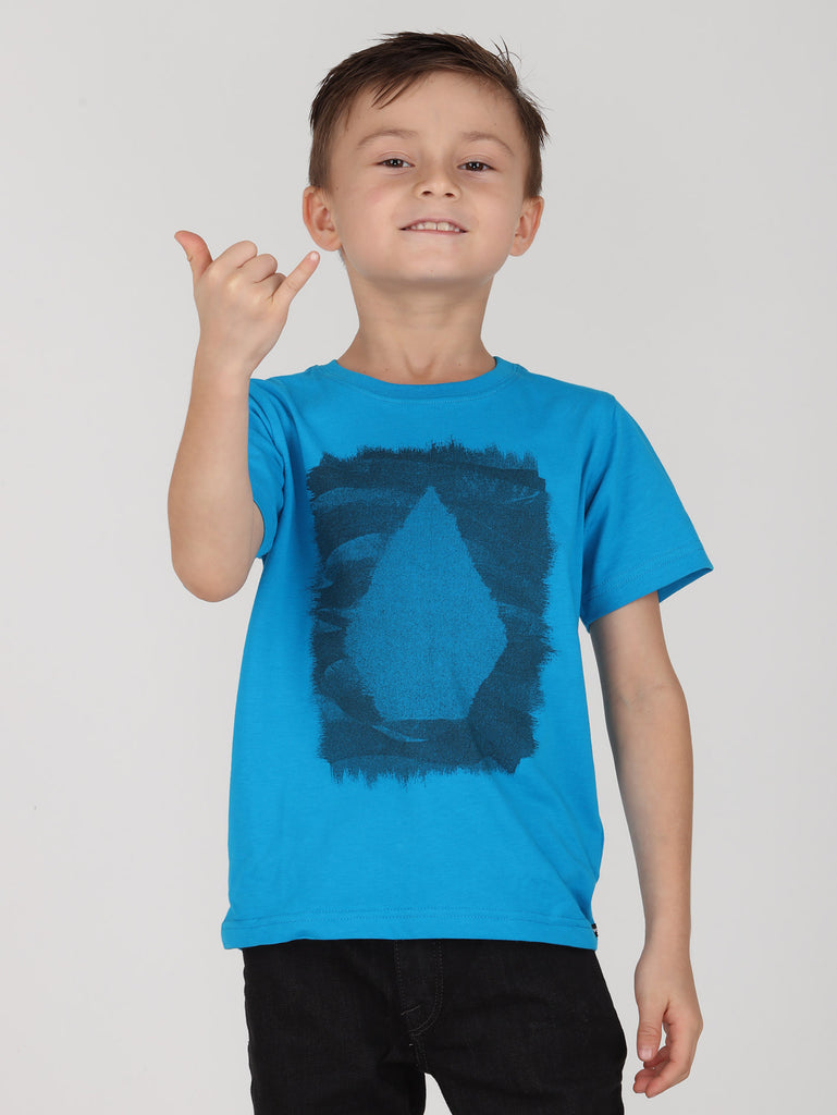 Little Boys Clutter Tee - Blue Bird