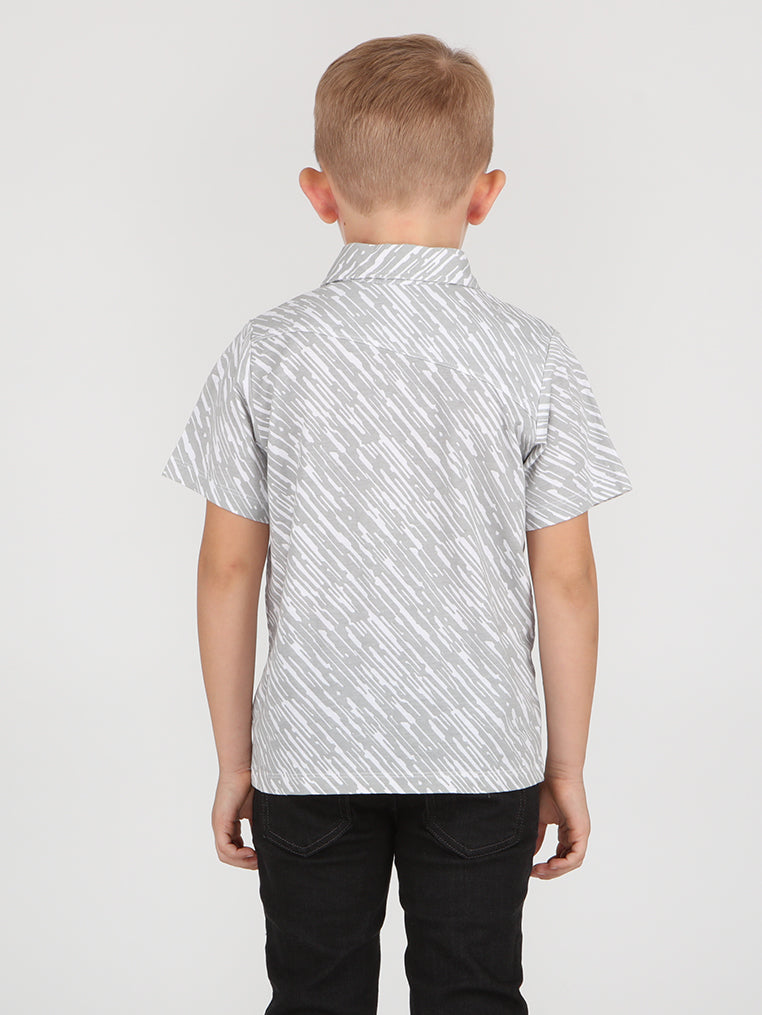 Little Boys Rain Polo - White