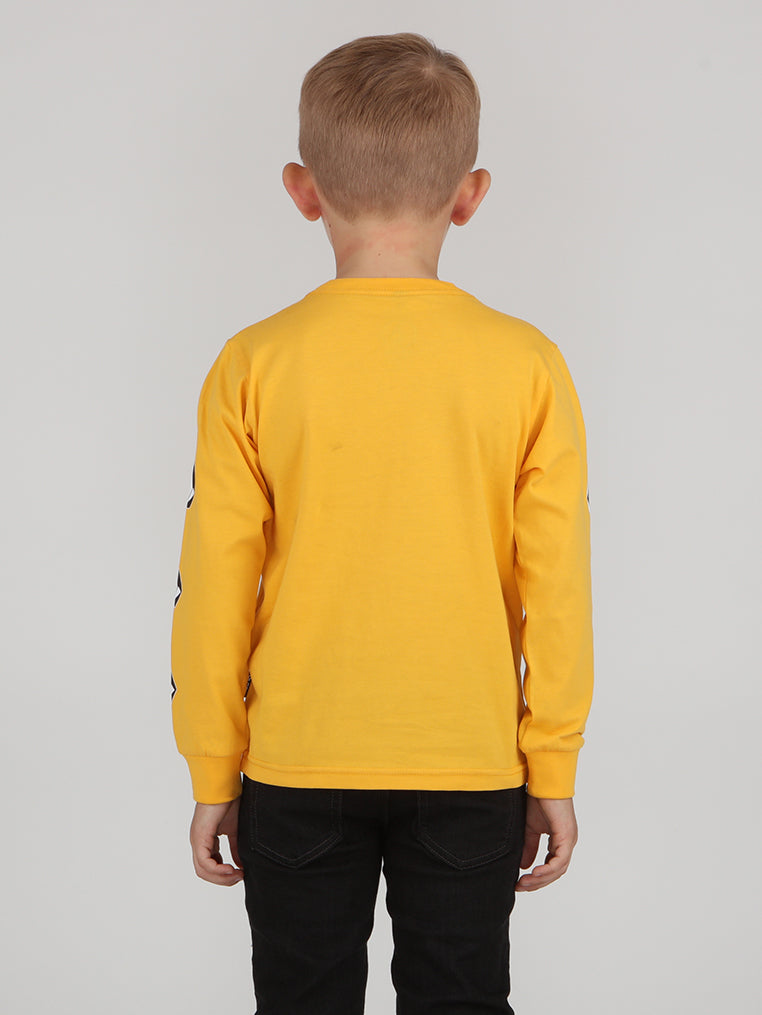 Little Boys Deadly Stone Tee - Citrus Gold