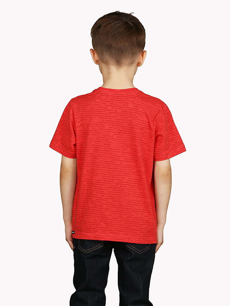 Slashes Tee - Spark Red