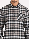 Caden Plaid Long Shirt - Black